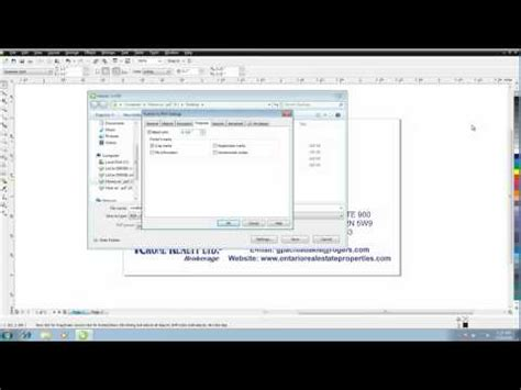 corel draw pdf save how to save a press quality pdf out of corel draw youtube