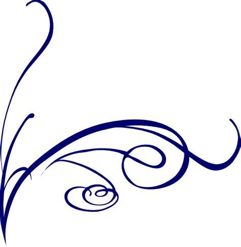 Swirl L by Decorative Swirl Blue Clip At Clker Vector Clip