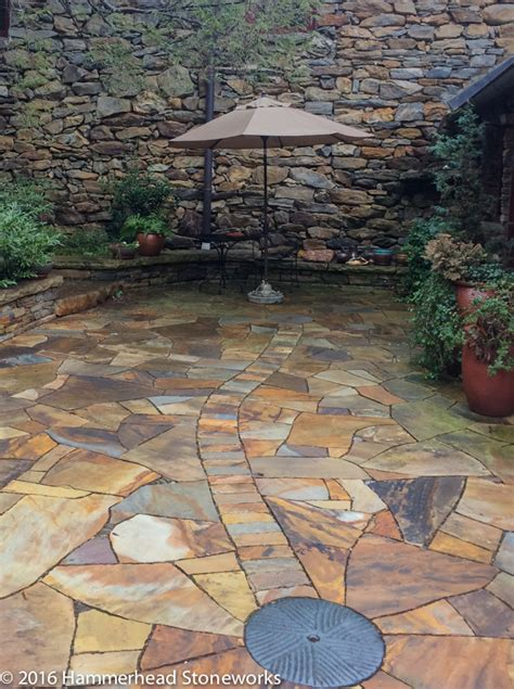 Cobble Patio by Flagstone Patios And Pathways Hammerhead
