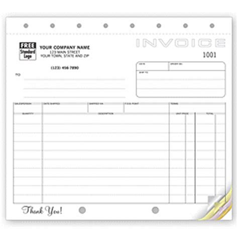 Shipping Receiving Forms Custom Classic Small Shipping Invoices 105 By Deluxe Custom Report Request Template