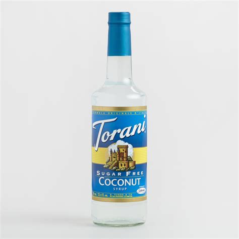 torani sugar free coconut syrup world market