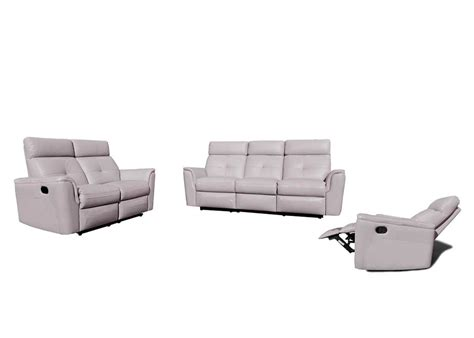 Grey Leather Reclining Sectional Reclining Grey Leather Sofa Ef501 Leather Sofas