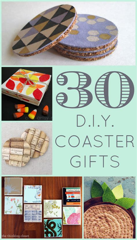 diy coasters 30 d i y coaster gifts the thinking closet