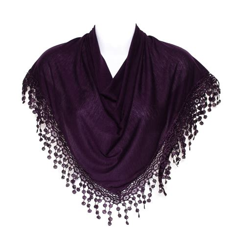 plain chandelier lace fringed shawl stole wrap