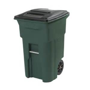 home depot garbage cans toter 64 gal green wheeled trash can 025564 01grs the