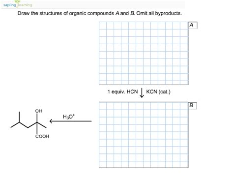 Organic Compound Drawer draw the structures of organic compounds a and b chegg