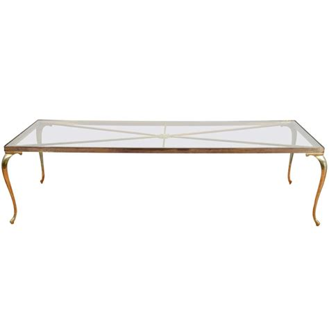 Mid Century Glass Coffee Table Mid Century Brass And Glass Coffee Or Cocktail Table By Chiavari At 1stdibs