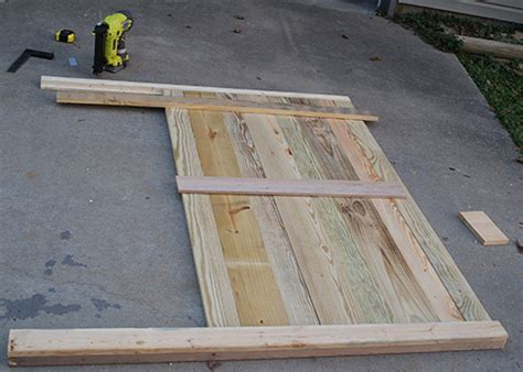 how to make a headboard out of wood and fabric diy reclaimed wood headboard