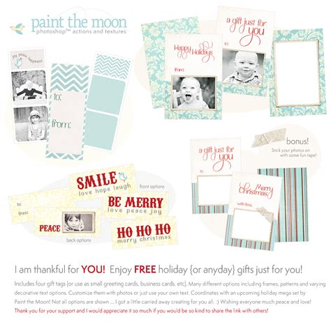 Photoshop Actions Free Holiday Gift Sler With Gift Cards And Tags Whimsy And Good Cheer Free Card Templates For Photoshop