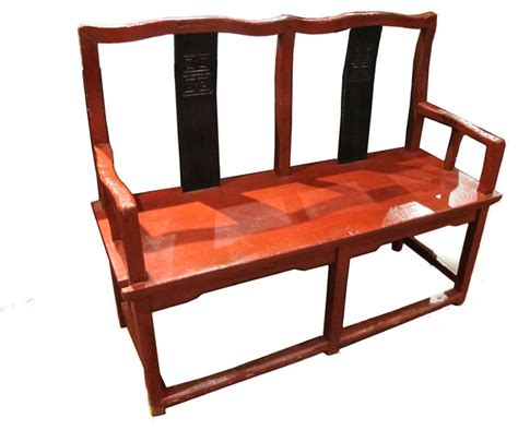 asian storage bench antique style chinese red bench asian accent and