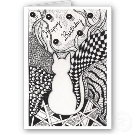 zentangle birthday card   doodles zentangles