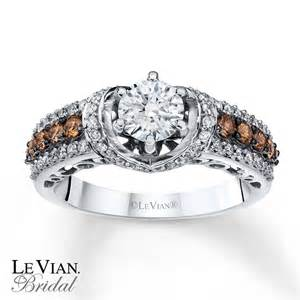 Kay levian chocolate diamonds 1 1 4 ct tw 14k gold engagement ring