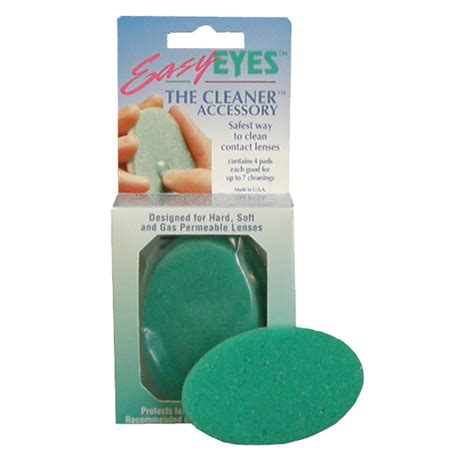 lens cleaning contact lens cleaning pads