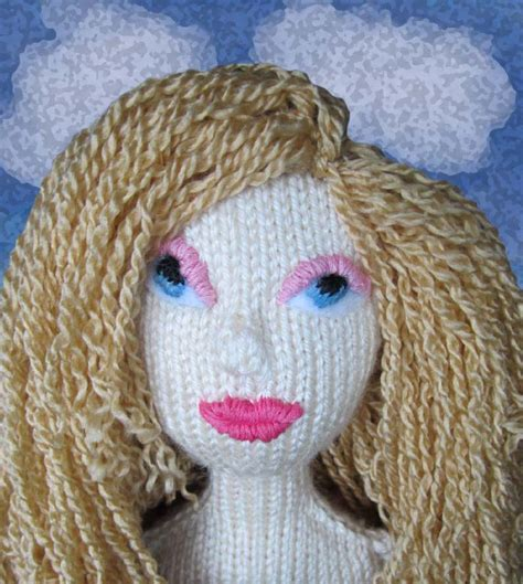 knitted doll faces knit bunny knitted dolls