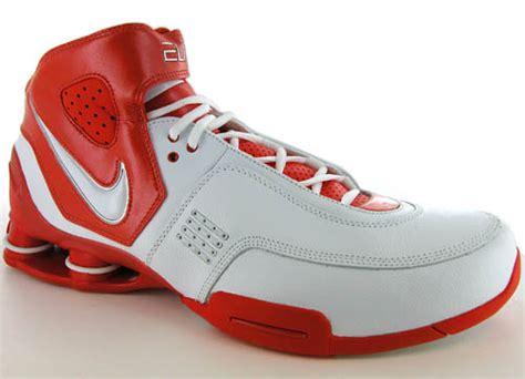 nike elite shox basketball shoes nike shox elite tb orange mens basketball shoes 17 5