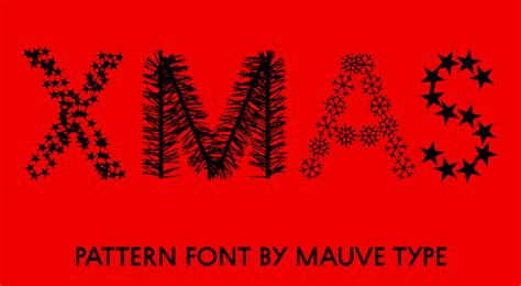 christmas pattern font family christmas pattern fonts by mauve type
