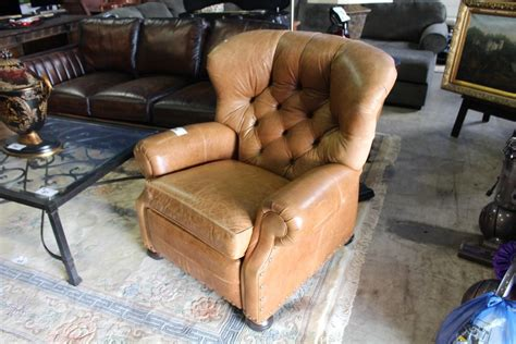 ethan allen cromwell recliner ethan allen cromwell recliner leather chair with tufted