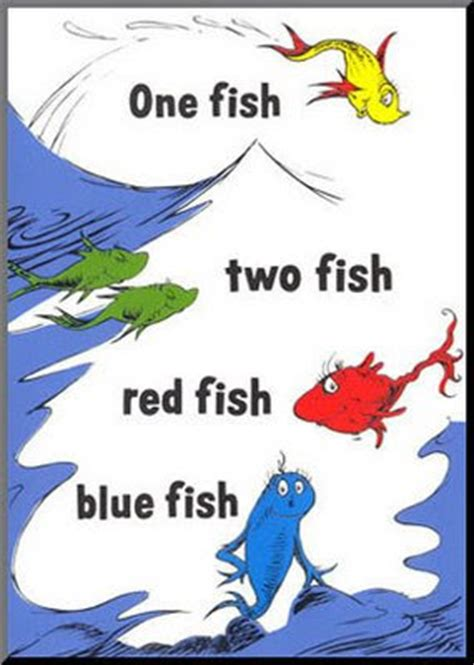 Dreams Happy Things Dr Seuss One Fish Two Fish Fish Blue Fish Coloring Page