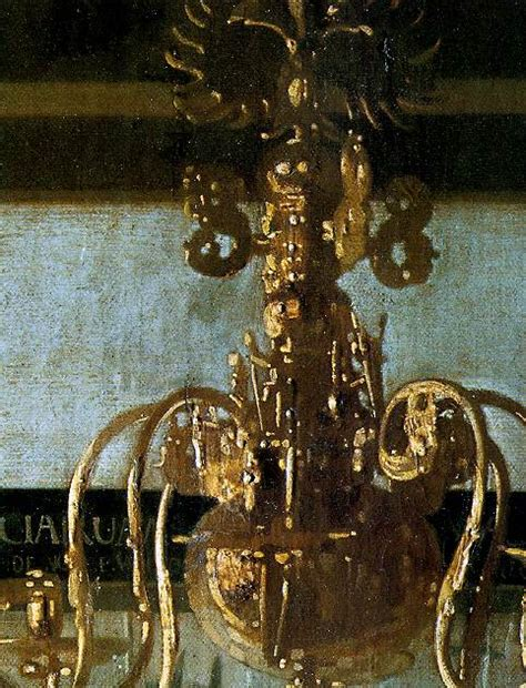 Painting Of Chandelier Vermeer Detail From The Of Painting Chandelier