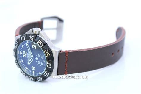 Tag Heuer F1 Silver Brown Leather 1 metta brown leather for tag heuer formula 1 eieiwatchstraps