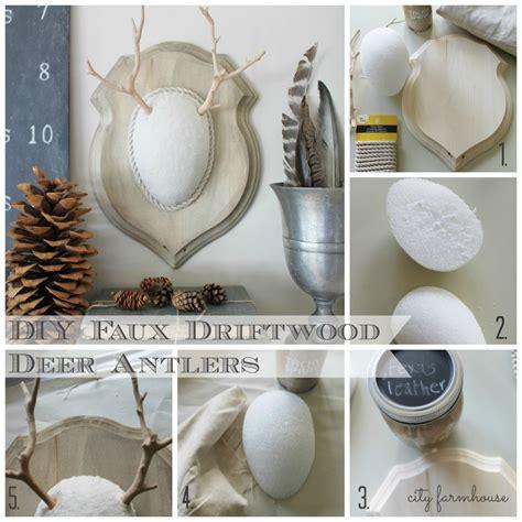 deer antlers diy cool diy faux driftwood deer antlers rizzo