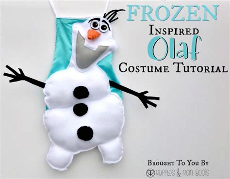 Easy And Olaf Tutorial Dress Up Costume Tutorial