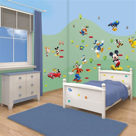 mickey mouse clubhouse bedroom decor disney mickey mouse clubhouse 41448 walltastic room