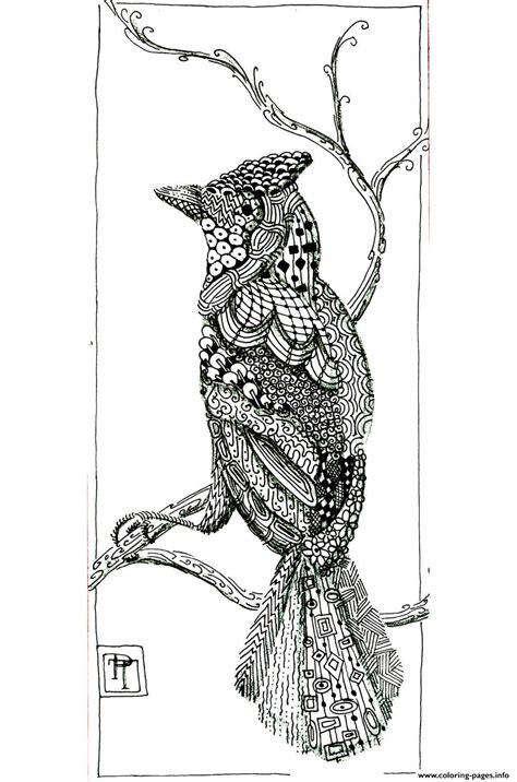 adult bird patterns coloring pages printable