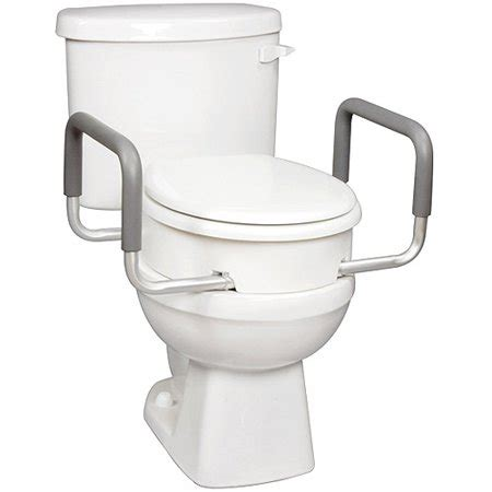 carex elevated raised toilet seat  arms  elongated