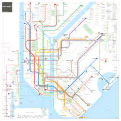 New York Subway Map With Streets by New York City Subway Map Inat Maps