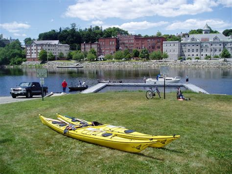 kennebec river boat launches penobscotpaddles kennebec river from augusta