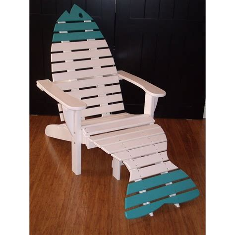 adirondack chair and ottoman poly dolphin adirondack chair with ottoman