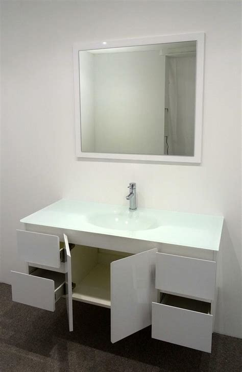 Glass Bathroom Vanity Units by Bathroom Vanity Unit Glass Top Glass Integrated Basin