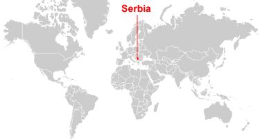 where is serbia on a world map serbia map and satellite image