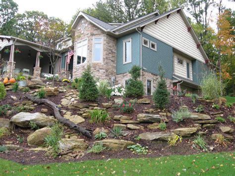 triyae landscaping backyard with slope various