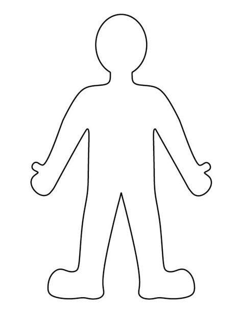 person pattern use the printable outline for crafts