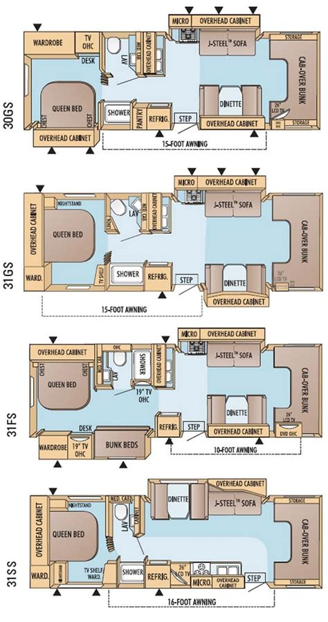 motor home floor plans rv floor plans class c gurus floor