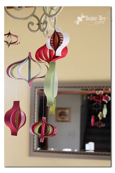 Paper Strips Crafts - paper ornament mobile sugar bee crafts