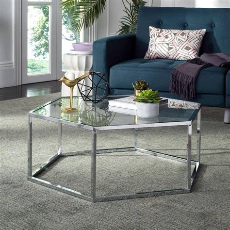 chrome glass coffee table 30 best glass and chrome coffee tables