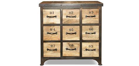 commode 9 tiroirs commode vintage industriel bois 9 tiroirs pas cher