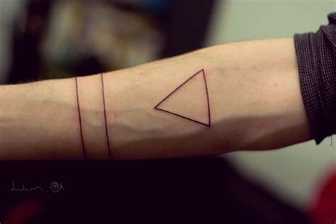 triangle tattoo on arm meaning 99 simple unisex tattoo designs utilizing linework