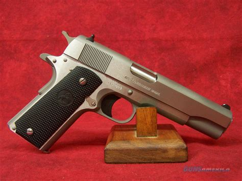 1991 colt government 45acp stainless colt 1991 government model 5 quot 45acp brushed stainless