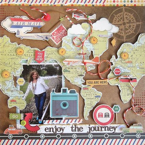 scrapbook layout ideas for travel best 25 scrapbook travel album ideas on pinterest photo