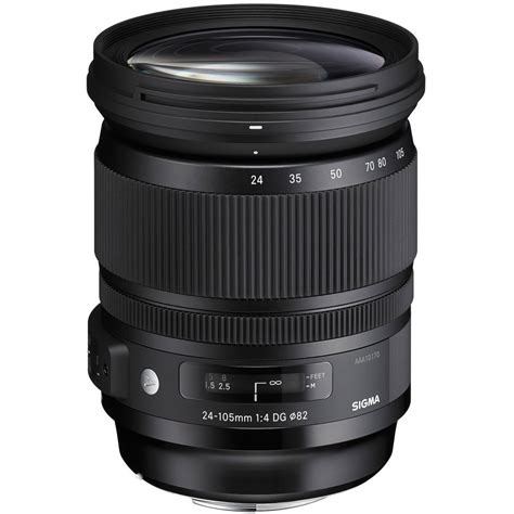 Sigma Canon sigma 24 105mm f 4 dg os hsm lens for canon ef 635 101 b h