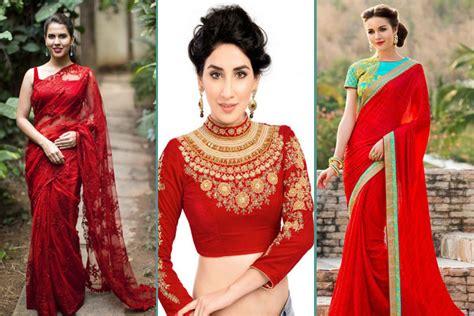 saree blouse designs hubpages wellness homes tattoo design bild 20 gorgeous pics of red saree blouse designs