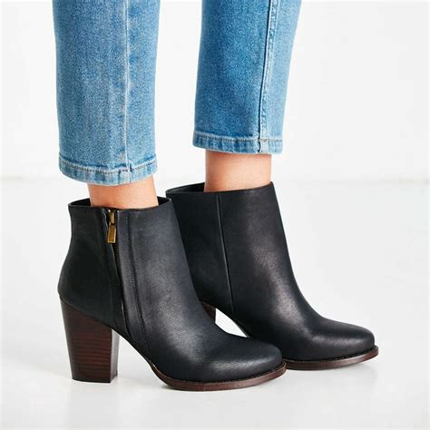 rank style silence noise half stacked heeled ankle boot