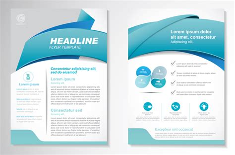 commonly business brochure cover design vector 01 free abstract business flyer with brochure cover template