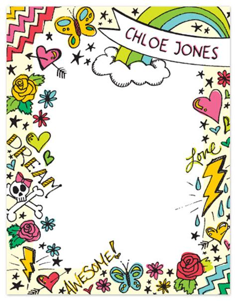 girly doodle ideas personal stationery girly doodle at minted