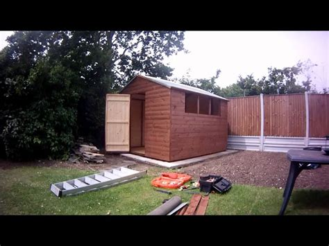 Build A R For Shed by Building A 10 X 9 Apex Garden Shed