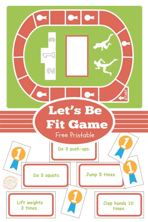 printable toddler board games let s be fit board game free kids printable